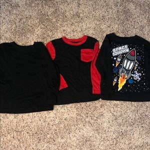 Other - Toddler Boy's Crewneck Long Sleeve Tees Size 4T
